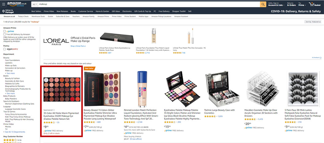 Sponsored Products amazon