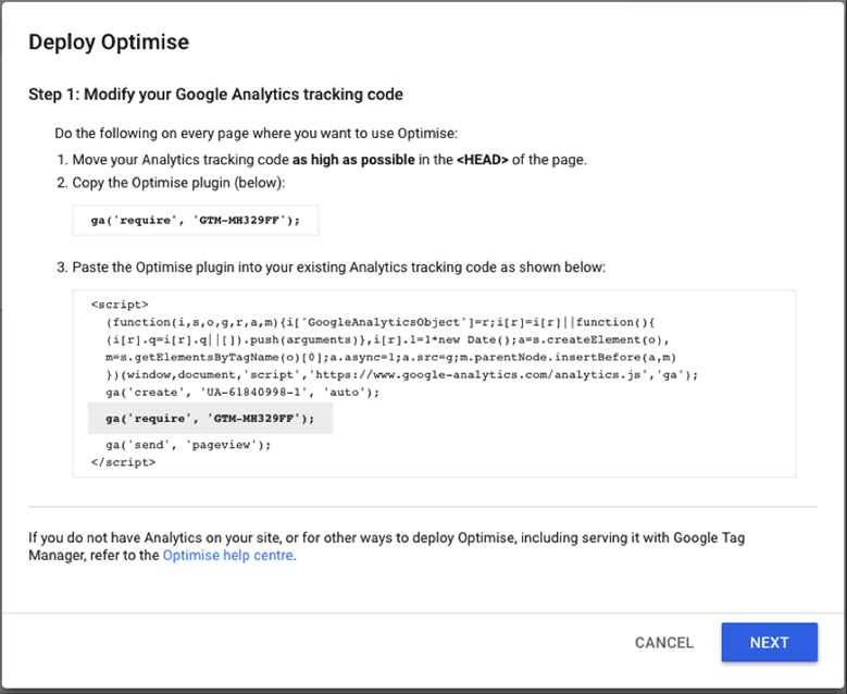 Google-Optimize-Analytics-Tracking-Code-Step1