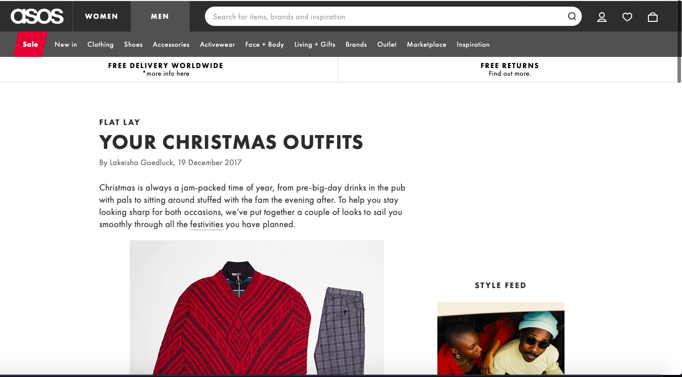 Christmas blog content