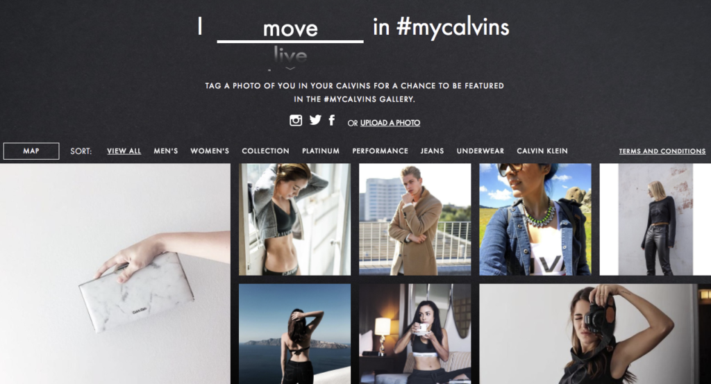#MyCalvins User-Generated Content Campaign