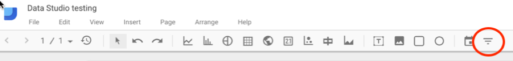 Google Data Studio Filters
