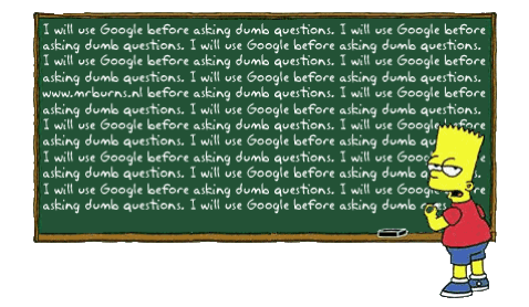 I will ask Google Bart Simpson