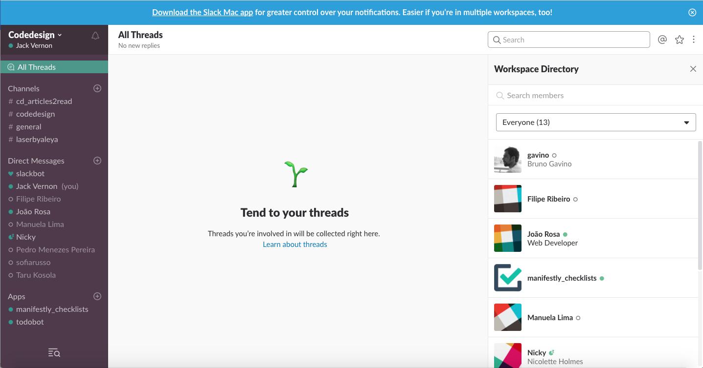 Slack-Homepage