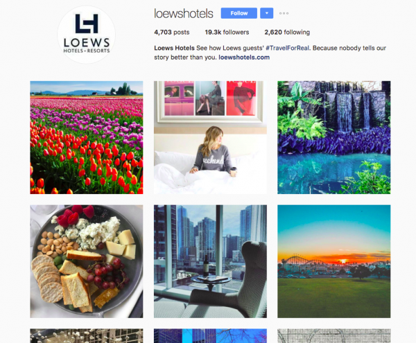 Loews Hotels Instagram User Generated Content