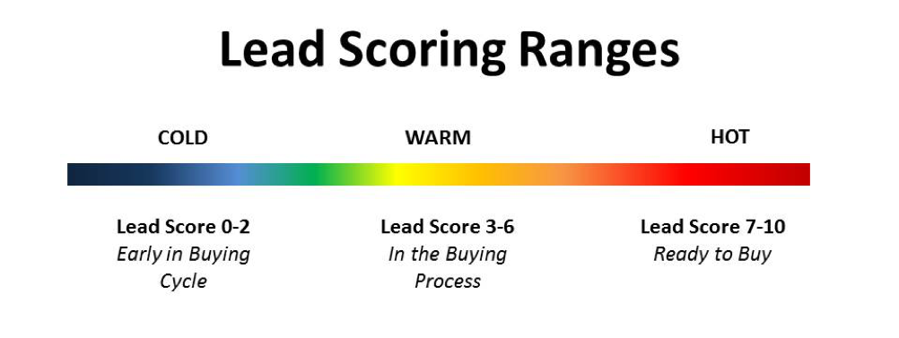 Online lead qualifying scale