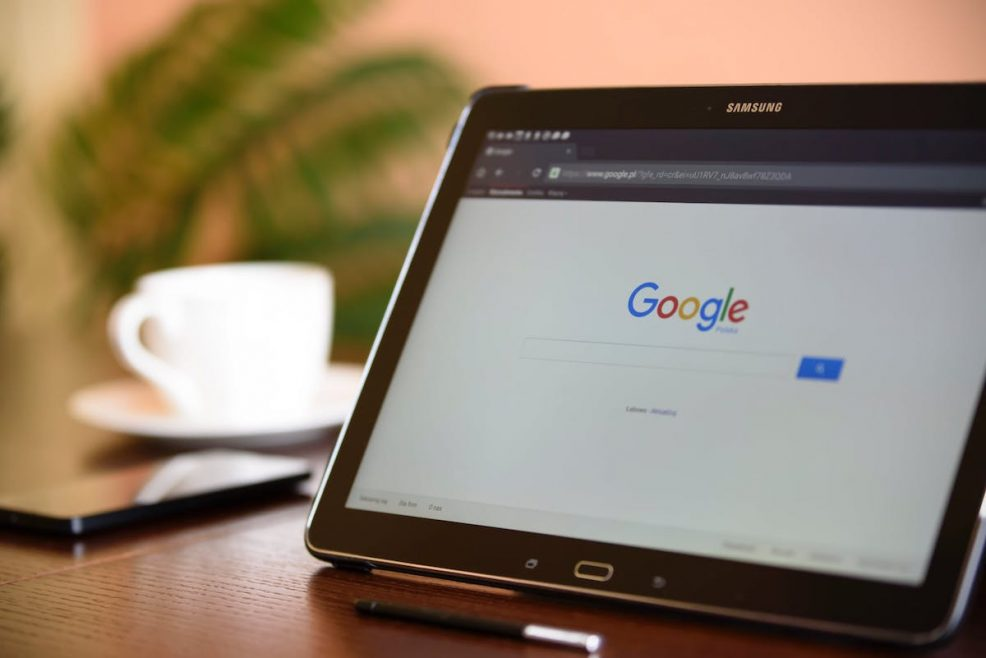 google paid search ads tablet device